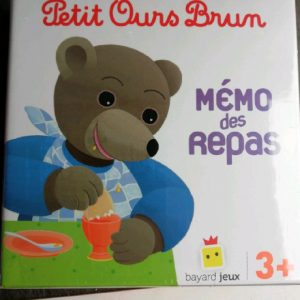 Petit Ours Brun - Mémo des repas