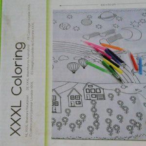 Tapis à colorier lavable